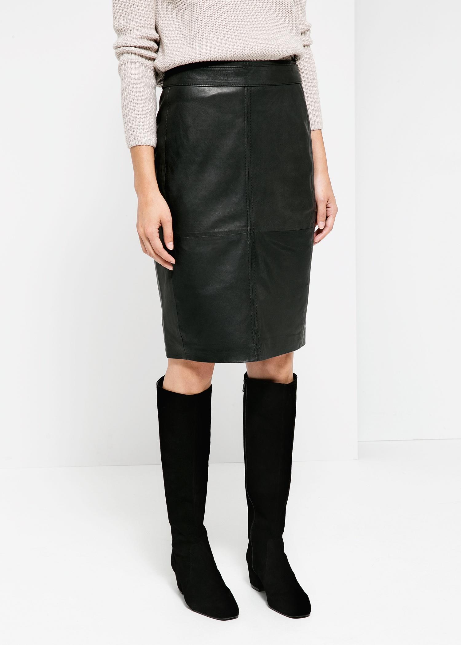 Leather pencil skirt - Women | MANGO