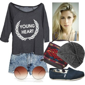 blouse young heart shirt 90210 90210 ivy grunge beach hipster boho