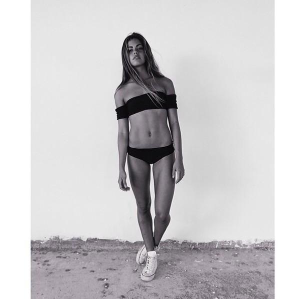 swimwear black black bikini swimwear