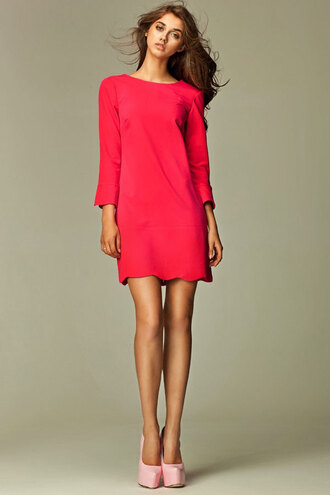 dress robe courte rouge chic red