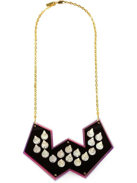 Sarah Angold Studio spiked necklace necklace purple pink jewels
