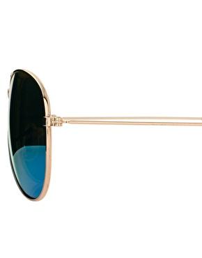 ASOS | ASOS Aviator Sunglasses with Blue Mirror Lens at ASOS