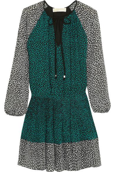 MICHAEL Michael Kors | Printed georgette mini dress | NET-A-PORTER.COM