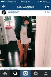 kylie jenner,mesh,jumpsuit,shorts
