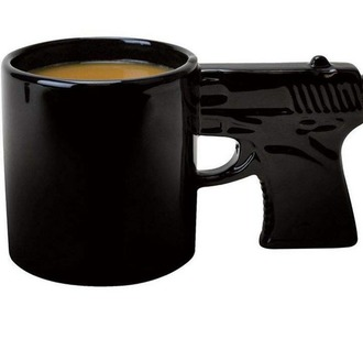 home accessory gun black mug dope