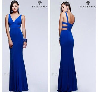 dress royal blue dress blue dress prom dress