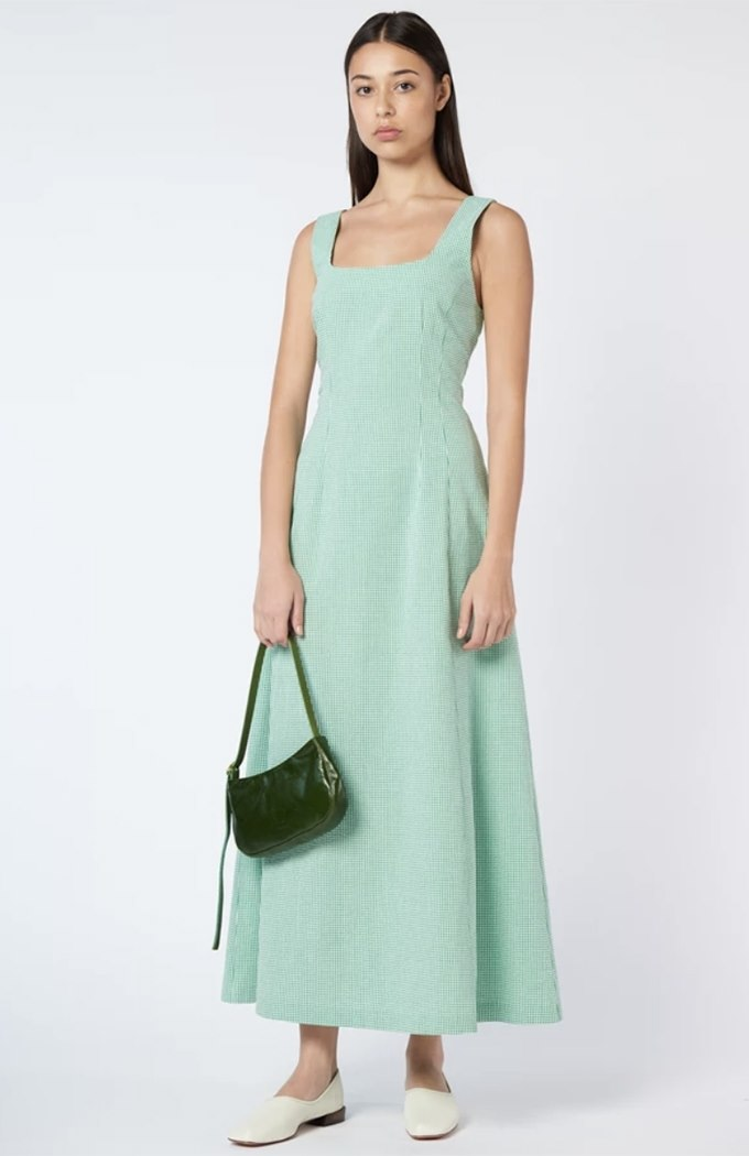 Amanda Dress - Emerald Gingham