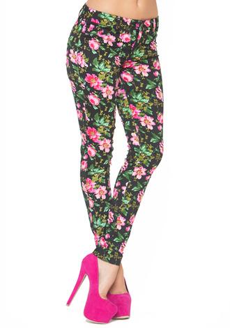 floral pants black pants pink pants