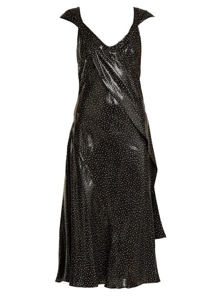 Diane Von Furstenberg dress print silk white black