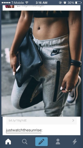 pants grey sweatpants nike