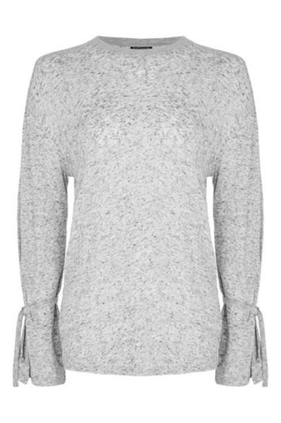 Topshop t-shirt shirt t-shirt long grey top