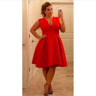 dress plus size curvy asos curve red dress red prom dress formal dress formal