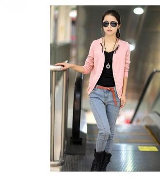 jacket pink jacket very cool styles