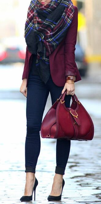 shoes scarf jacket bag cardigan maroon/burgundy coat burgundy jacket