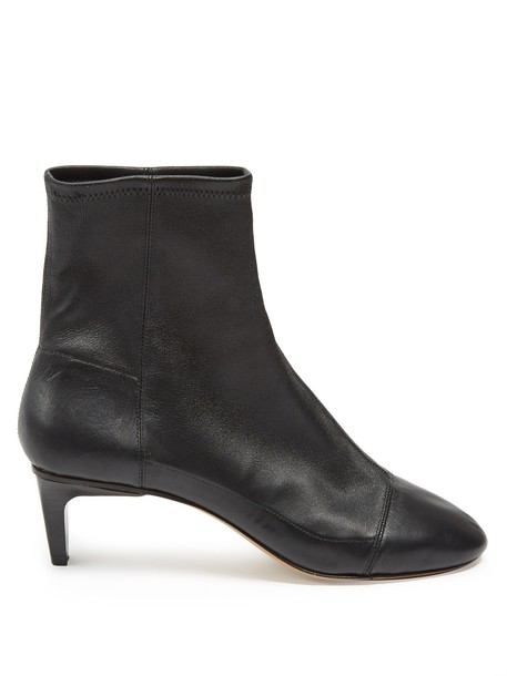 Isabel Marant leather ankle boots ankle boots leather black shoes