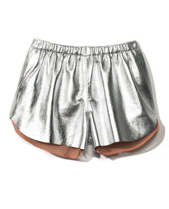 shorts silver outfit streetstyle silvershorts metallic casual casual shorts shortshorts short