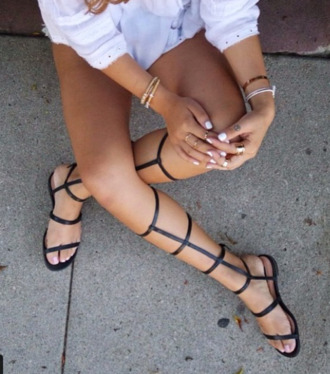 shoes gladiators sandals faux leather strappy sandals