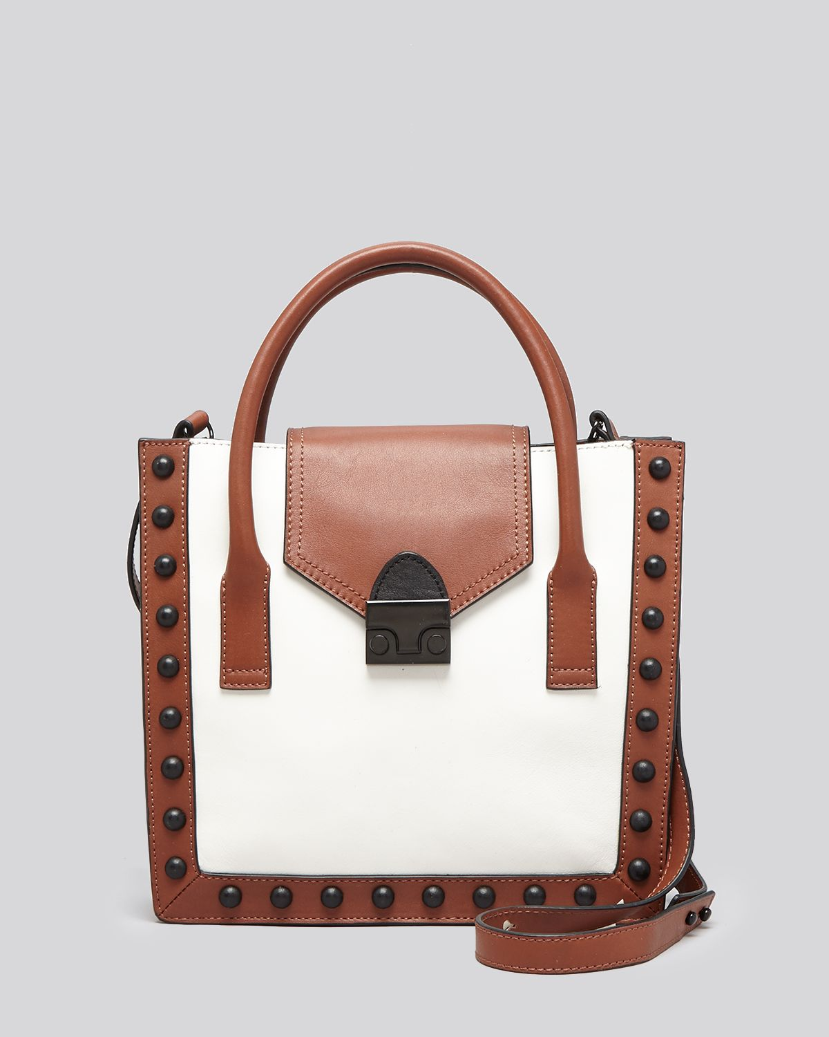 Loeffler Randall Crossbody - Colorblock Studded Junior Work Tote | Bloomingdale's