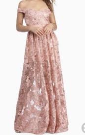 dress,pink,flowers