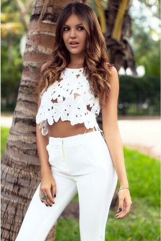 lace crop tops white lace top top ustrendy top crop tops ustrendy crop top lace top white crop top