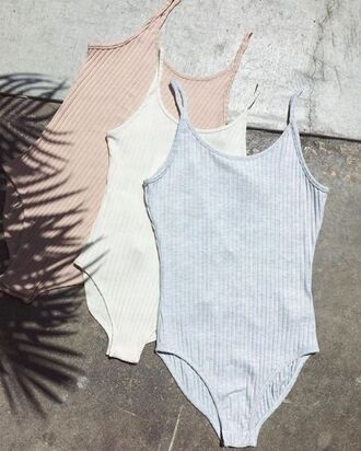 underwear bodysuit ribbed bodysuit grey bodysuit undies pink bodysuit white bodysuit 90s style