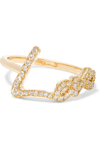 diamond ring love ring gold jewels