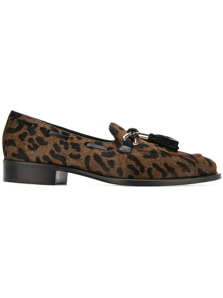 GIUSEPPE ZANOTTI DESIGN women loafers leather brown shoes