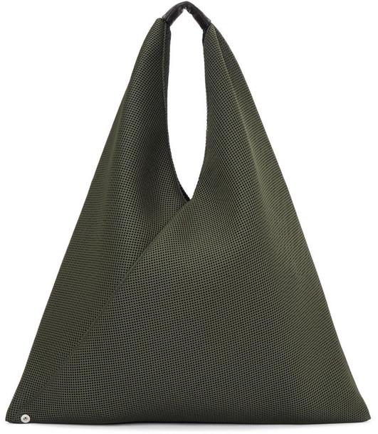 Mm6 Maison Margiela mesh green bag