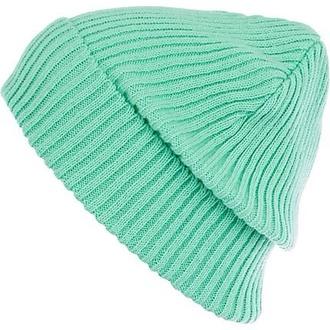 light blue beenie fashion hat