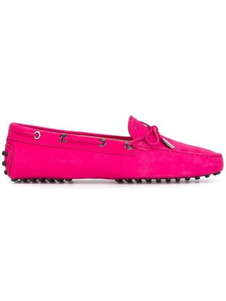 women shoes leather suede purple pink