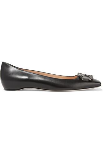 ballet flats ballet flats leather black shoes