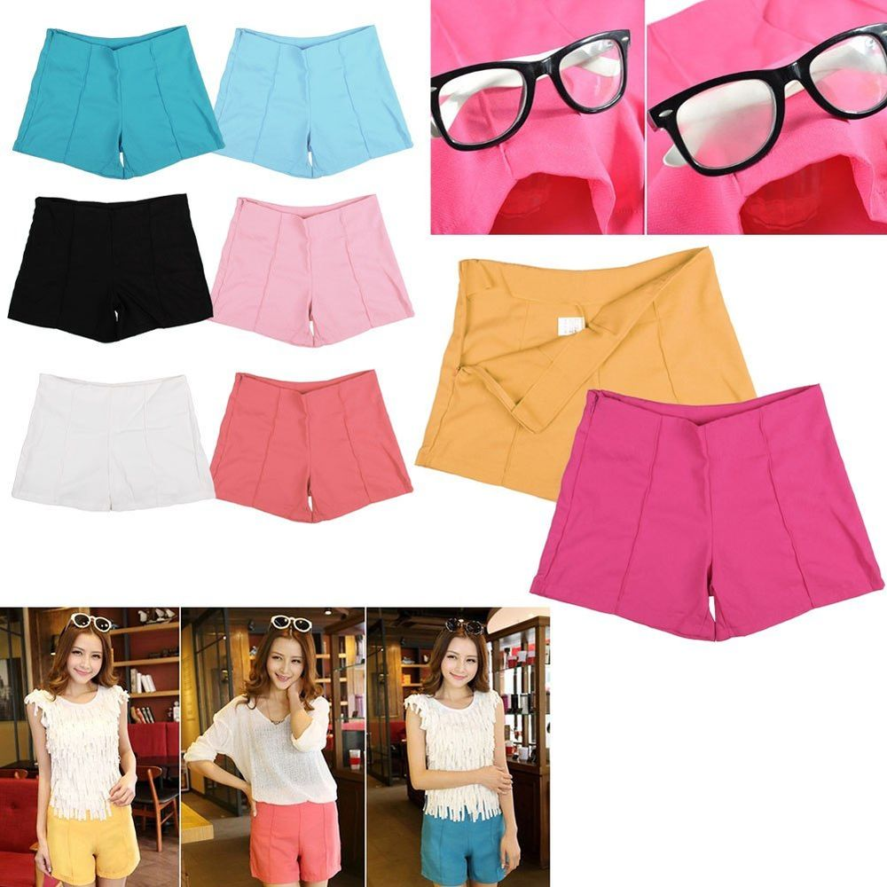 New women's high waist shorts summer casual shorts short hot pants 8 candy color