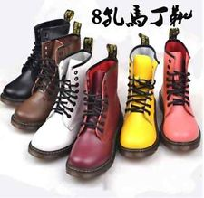 New Retro Womens Lace Up Punk Rock Motorcycle Low Heel Military Combat Boots | eBay