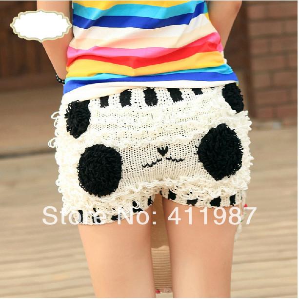Quality 2014 New Super Cute Girl's Knitting Panda Designed Shorts ...