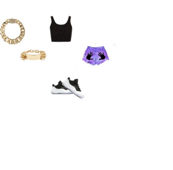 shorts grab here air jordan gold jewelry black crop top