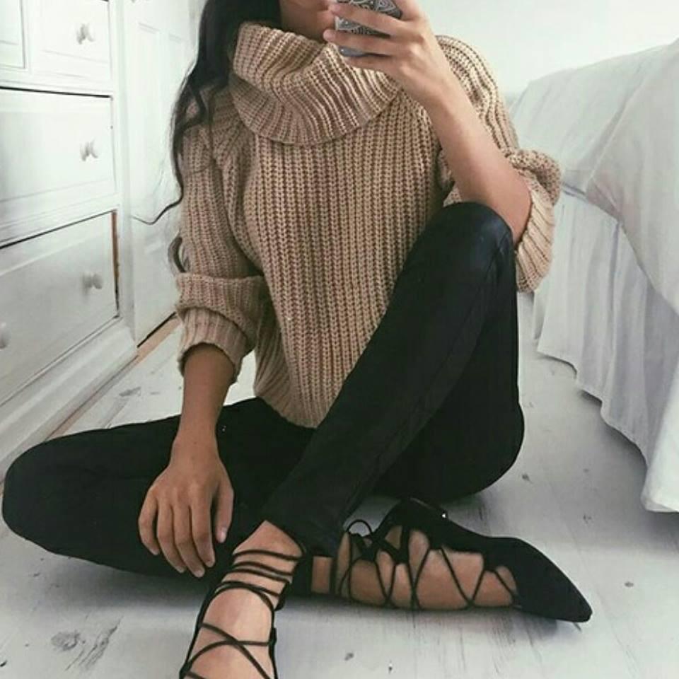 Beige Cowl Neck Sweater – Dream Closet Couture