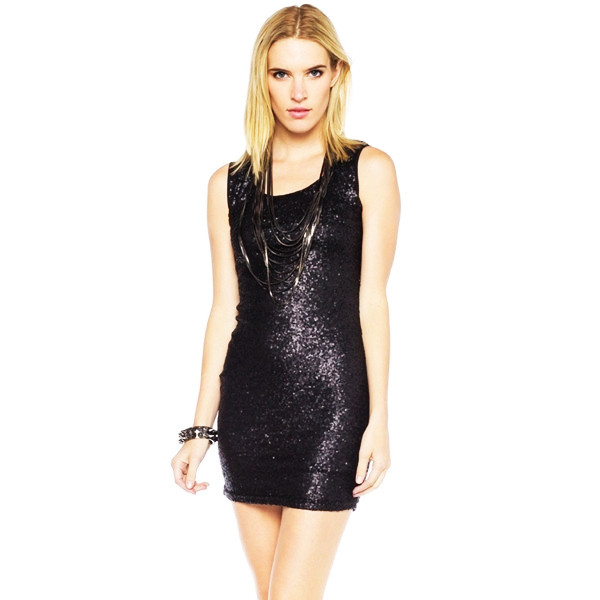 dress black style chic sequins mini makeup table vanity row dress to kill fashion little black dress