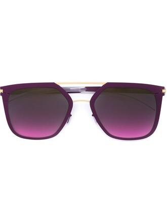 metal women sunglasses purple pink