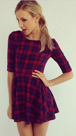 Mini plaid skater dress · mir · online store powered by storenvy