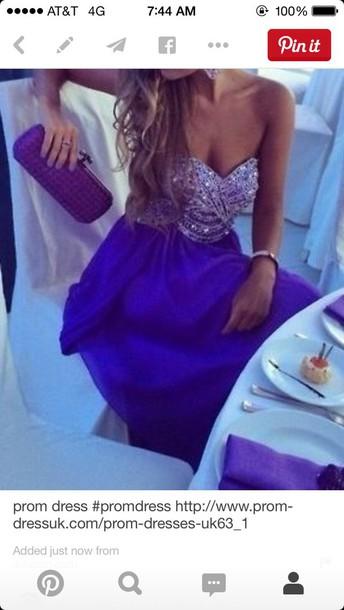 dress blue purple prom