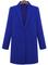 Blue lapel long sleeve loose woolen coat