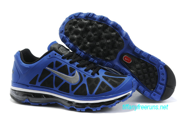 Mens Nike Air Max 2011 Drenched Blue/Metallic Silver-Black Sneakers [Tiffany Free Runs 108]-$56.98|Tiffanyfreeruns.net