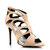 GJ | Velvet Butterfly Caged Heels $30.50 in BLACK NUDE - Single-Sole Heels | GoJane.com