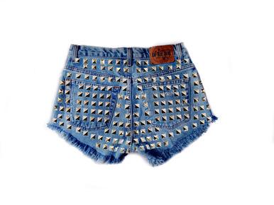 Hollywood Dream 420 Studded Shorts - Arad Denim