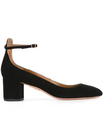 ankle strap pumps black shoes