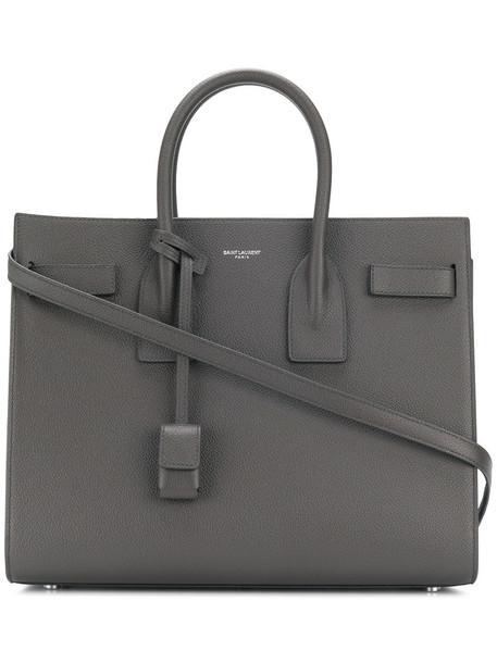 Saint Laurent women leather grey bag