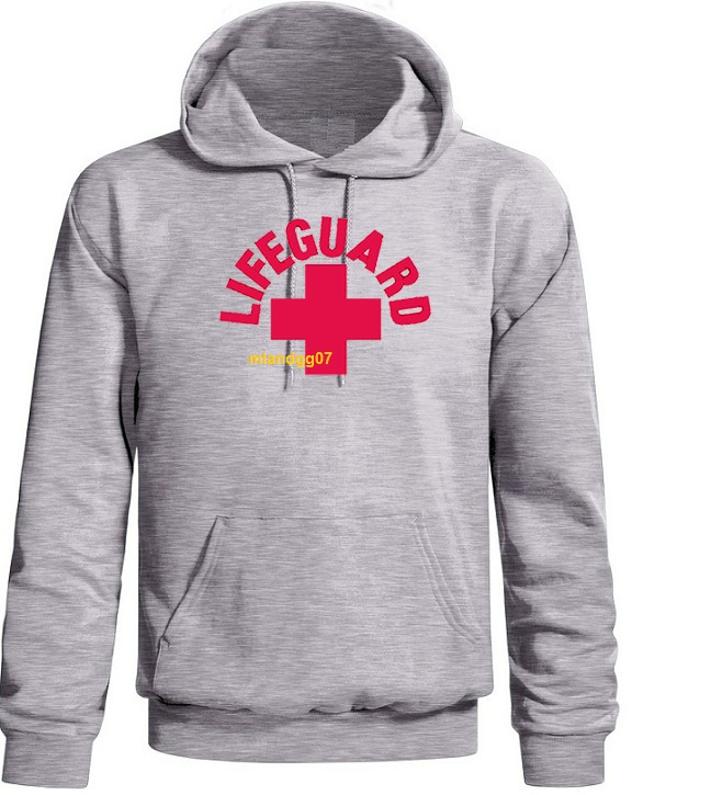 Lifeguard Sweatshirt Beach Cross Logo Surfing Hoodie | eBay