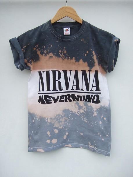 nirvana blouse acid wash