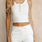 Bailey knit shorts white