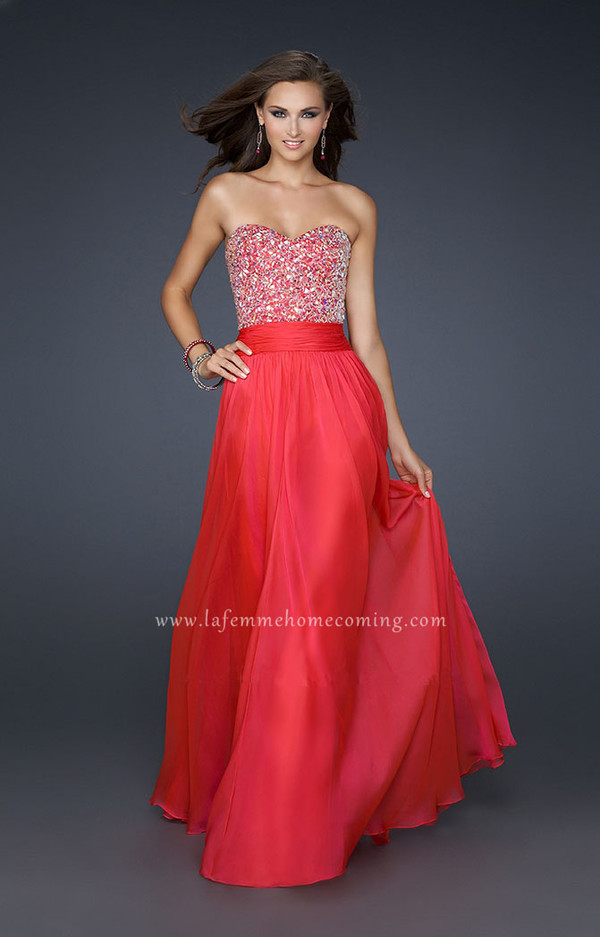 la femme dresses red prom dress
